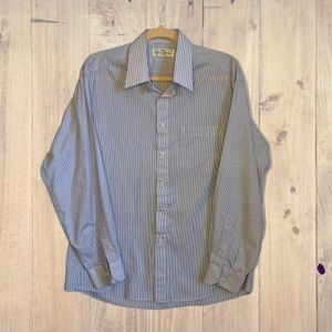 Marks & Spencer Men's Pinstripe Shirt Sz 16 / 41cm